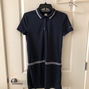 Tennis dress in navy blue